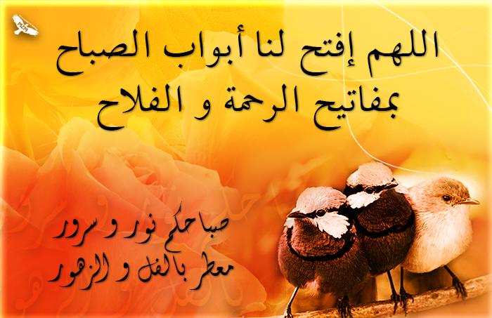 اللهم إفتح لنا أبواب الصباح بمفاتيح الرحمة و الفلاح