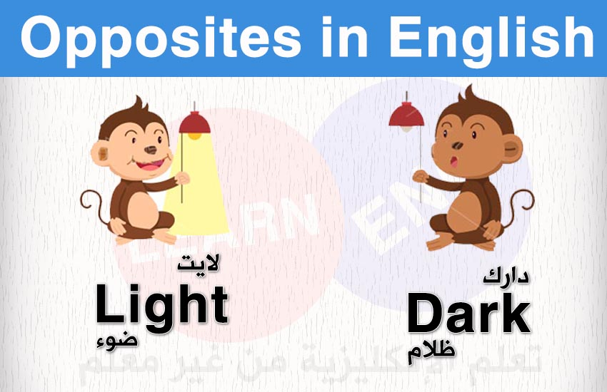 المتضادات باللغة الإنكليزية Opposites English bntpal.com_147427378