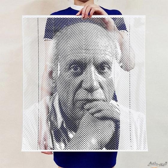 لوحات واقعية للمشاهير قصاصات الورق bntpal.com_149255309
