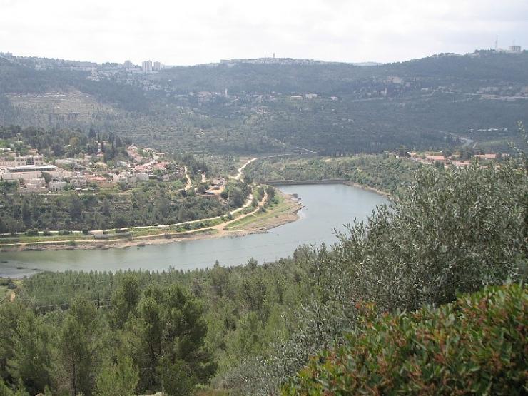 بركة مياه تتلون جبال القدس bntpal_1426791307_27