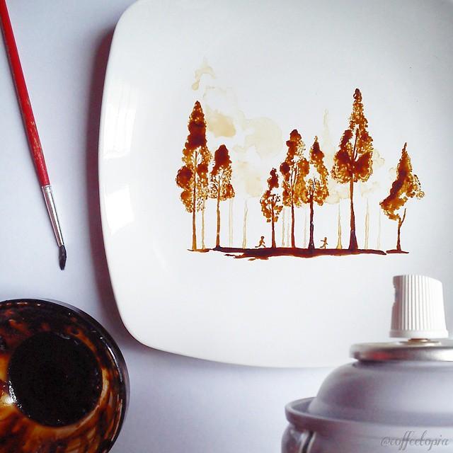 فنان يحول قهوة الصباح لوحات bntpal_1444420299_12