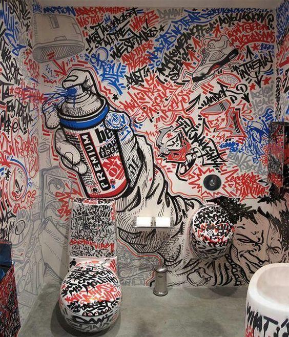 الفن الجرافيتي ديكور المنزل 🌸 bntpal_1498638016_17