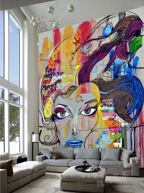 الفن الجرافيتي ديكور المنزل 🌸 bntpal_1498638017_29
